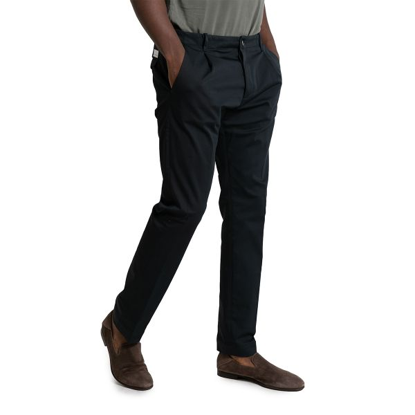 Blue Tailored Pleated Trousers