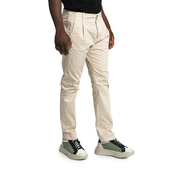 Tailored Chino Trousers-Beige