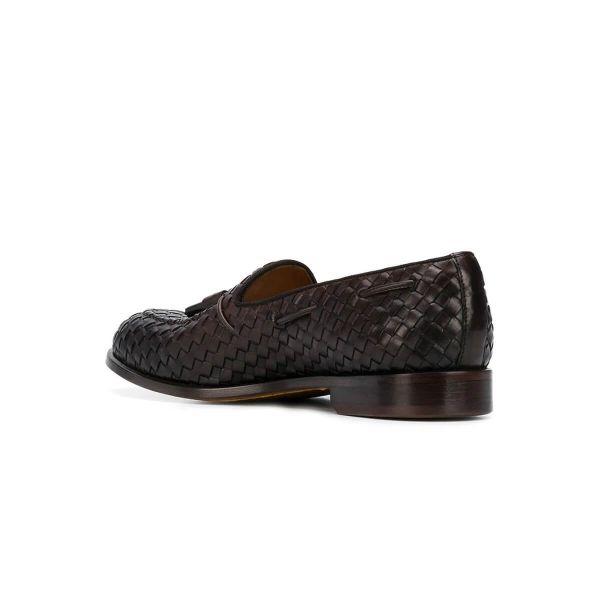 Tassel-Embellished Woven Loafers
