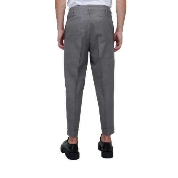 Dark Grey Straight Tailored Trousers
