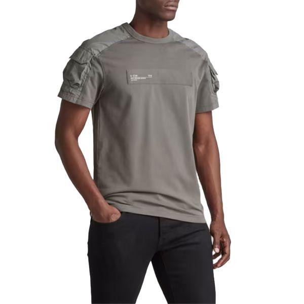 Mix Woven Cargo T-Shirt