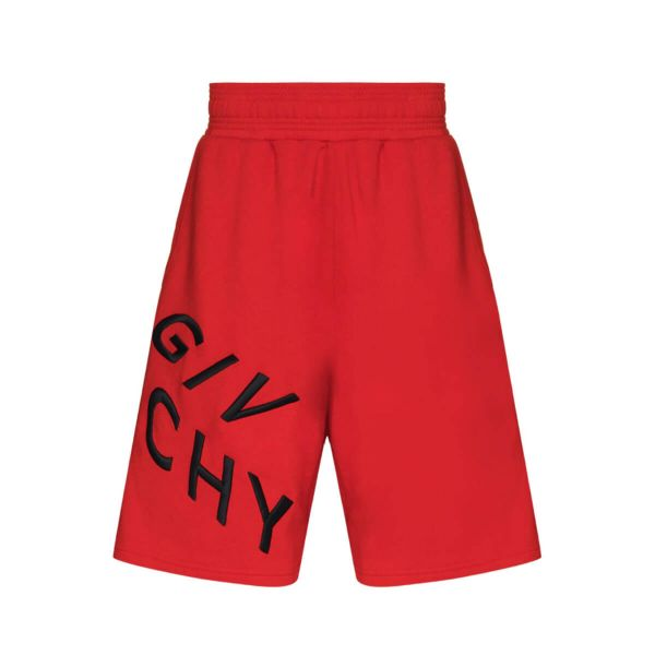 Refracted-Logo Cotton Track Shorts
