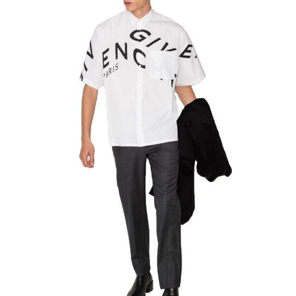 Refracted-Logo Short-Sleeve Shirt