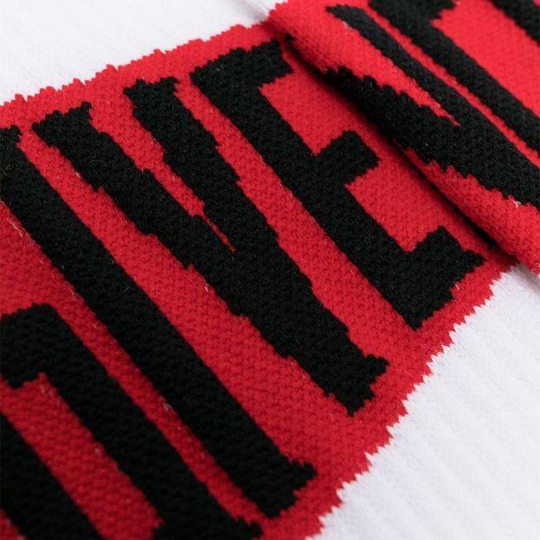 Logo Knit Ribbed Socks