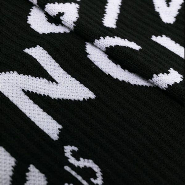 Refracted Logo Knit Socks