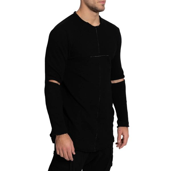 Cut-Out Sleeves Jumper
