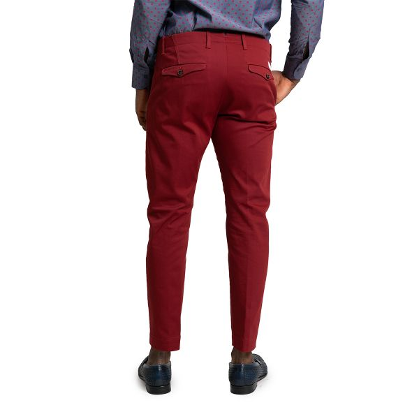 Red Skinny Tailored Trousers