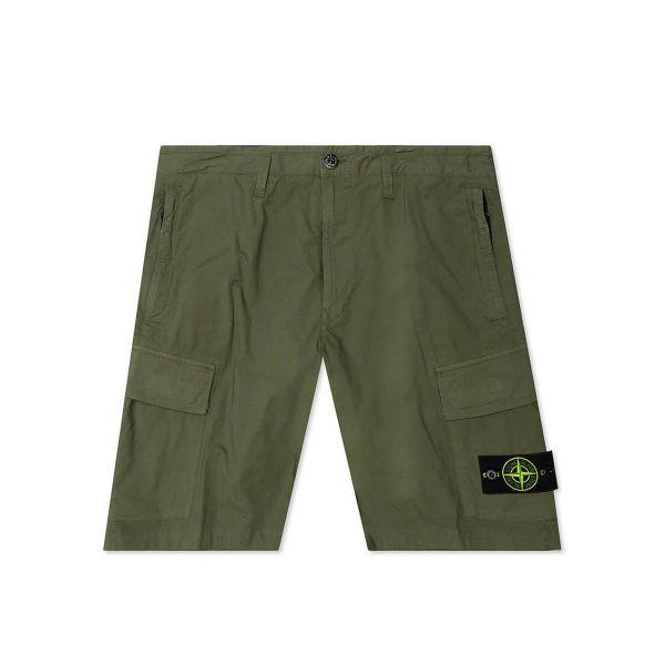 Compass Logo-Embroidered Shorts/Khaki
