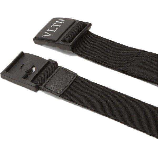 Valentino Plaque Belt-Black