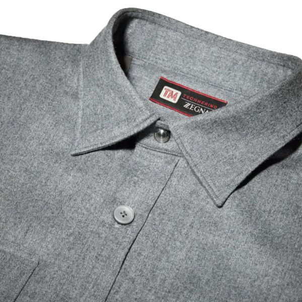 Grey Techmerino™ Wool Overshirt
