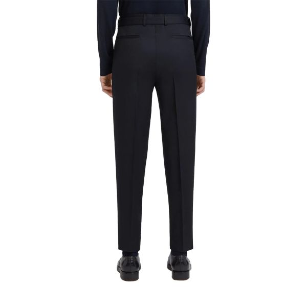 Wool Double Pleated Trousers