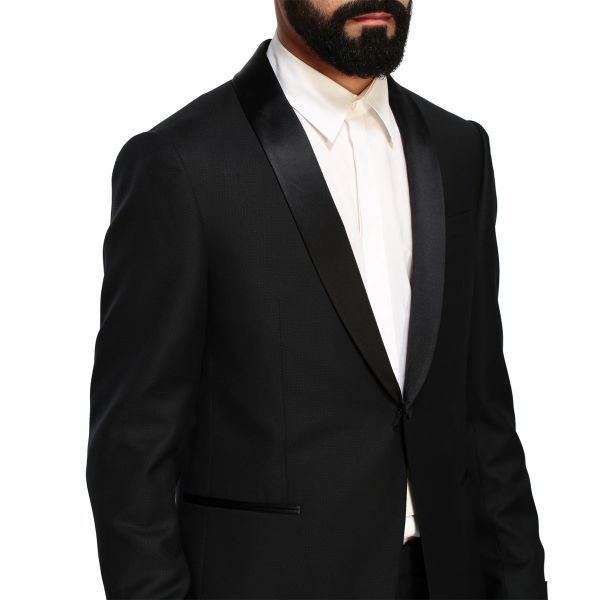 Single-Breasted Two-Piece Wool Suit