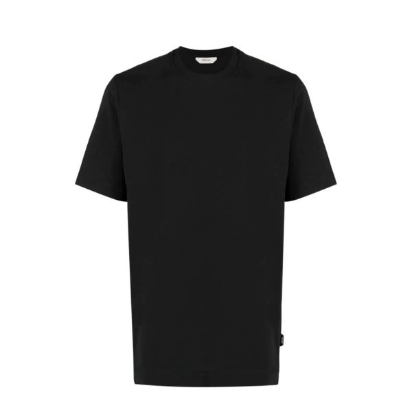Crewneck Cotton T-Shirt/Black