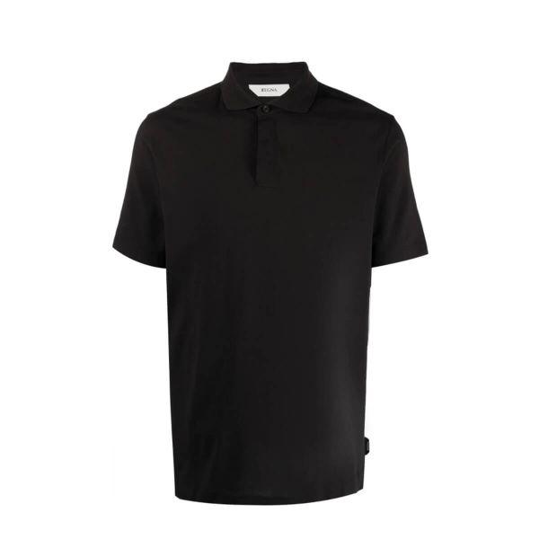 Short-Sleeved Cotton Polo Shirt