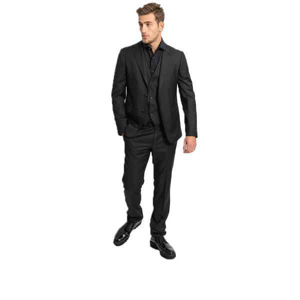 Single-Breasted Three-Piece Suit/Black