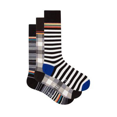 Mixed Pattern Socks Three Pack
