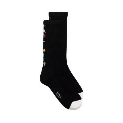 Logo-Intarsia Socks