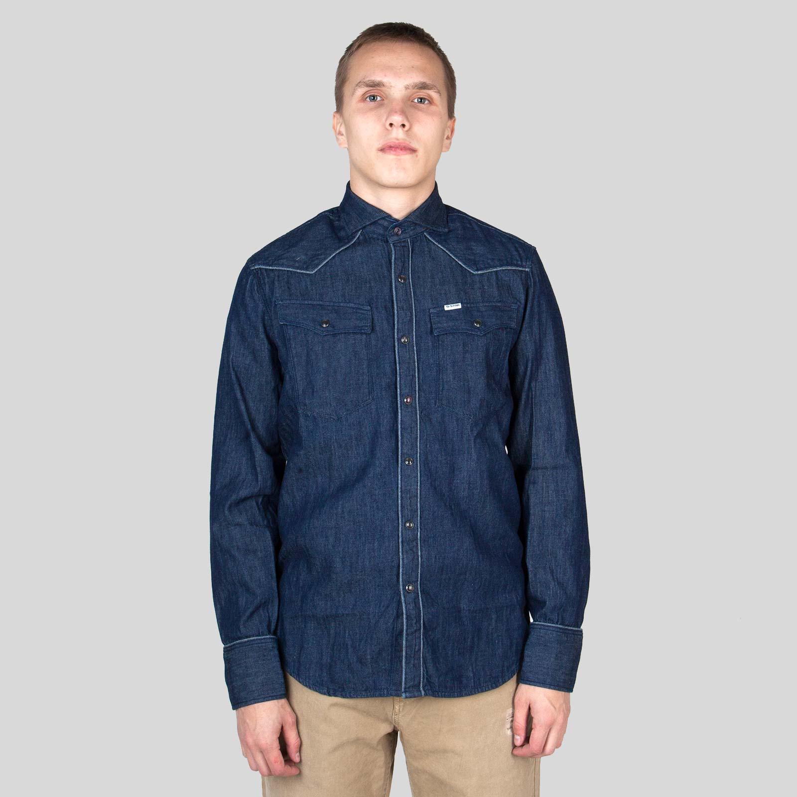 e42bcf417d10 Μπλε 3301 Parade Slim Blue Shirt G-STAR